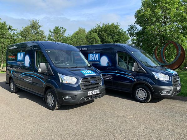 Two new Transit vans supplied to BM Electrical Wholesale Ltd